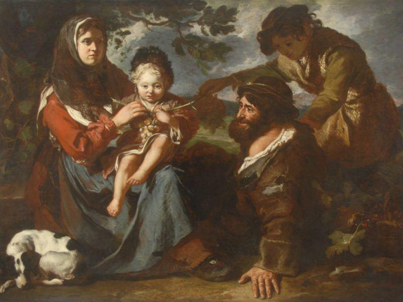 Antonio Amorosi (1660-1738) - 'Peasant Family'.