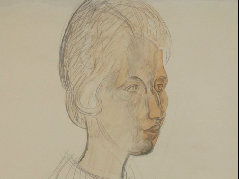 Wyndham Lewis (1882-1957) - 'Portrait of Lady Perdita Jolliffe' 1938.