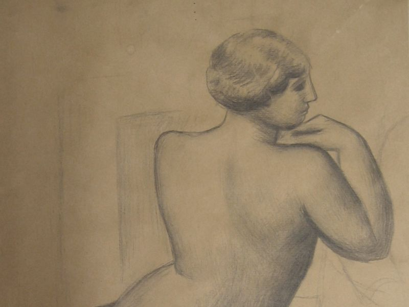 Mark Gertler (1891-1939) - 'Study of a Nude'.