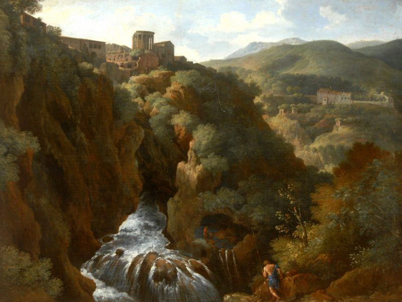 Gaspard Dughet (1615-1675) - 'View of Tivoli with the Temple of the Sibyl'