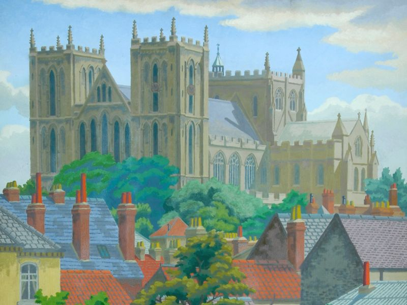 Charles Ginner (1878-1952) - 'Ripon Cathedral'