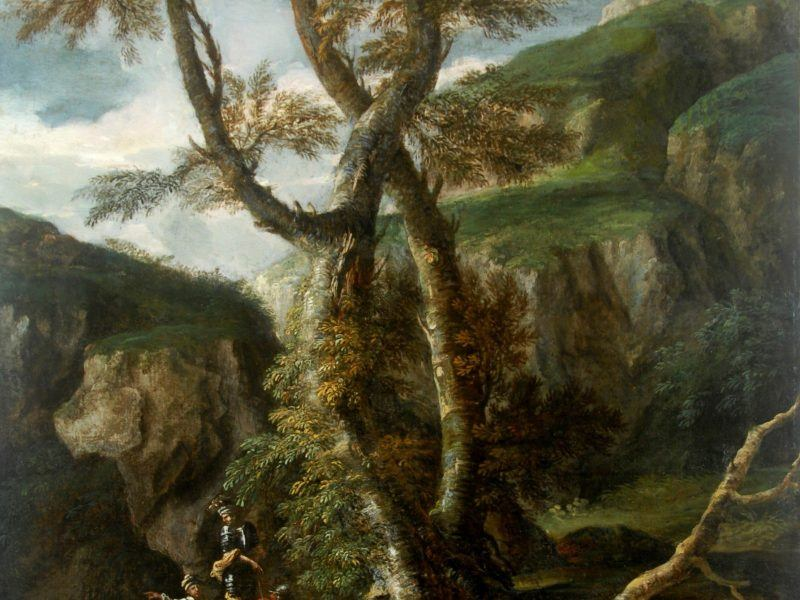 Salvator Rosa (1625-1675) - 'Soldiers in a Rocky Gorge'