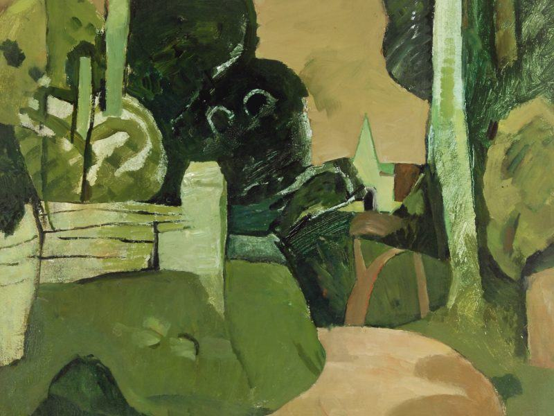 Keith Vaughan (1912-1977) - 'Landscape with Green Church'