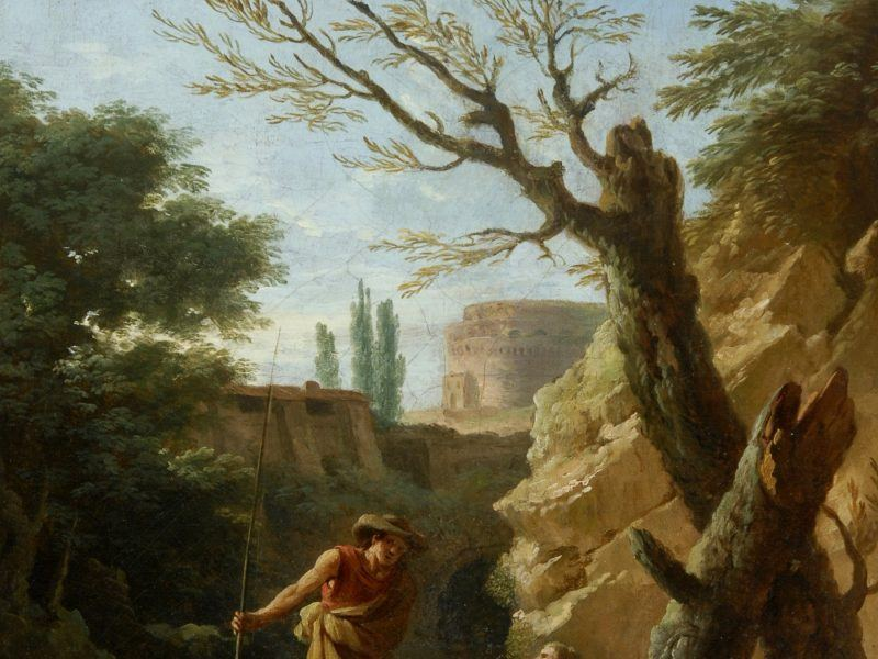 Claude-Joseph Vernet (1714-1789) - 'Figures in a Landscape'