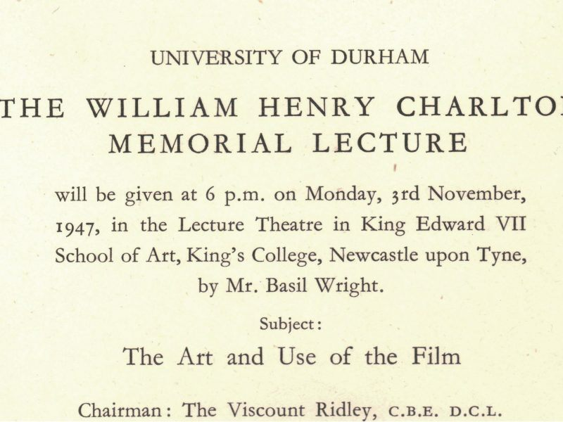 1947 charlton lectures