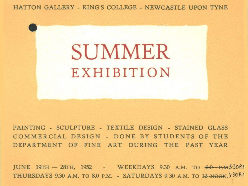 1952 student summer exhbition
