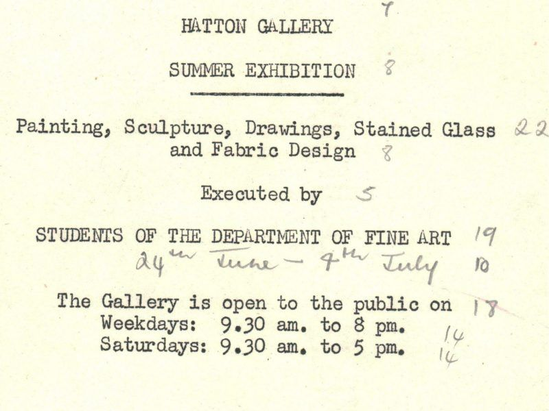1956, Summer Student exhbition