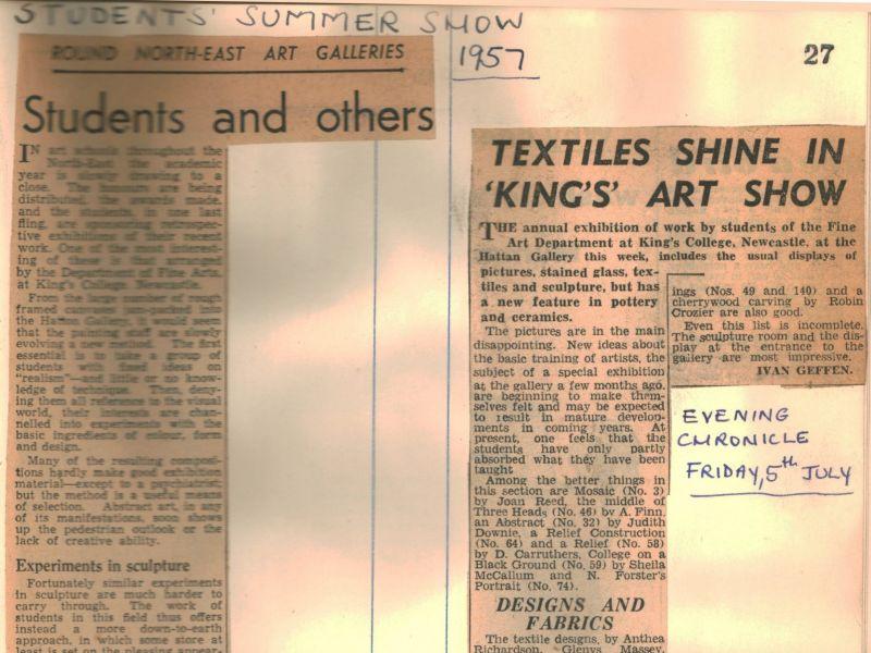 1957 student exhibition