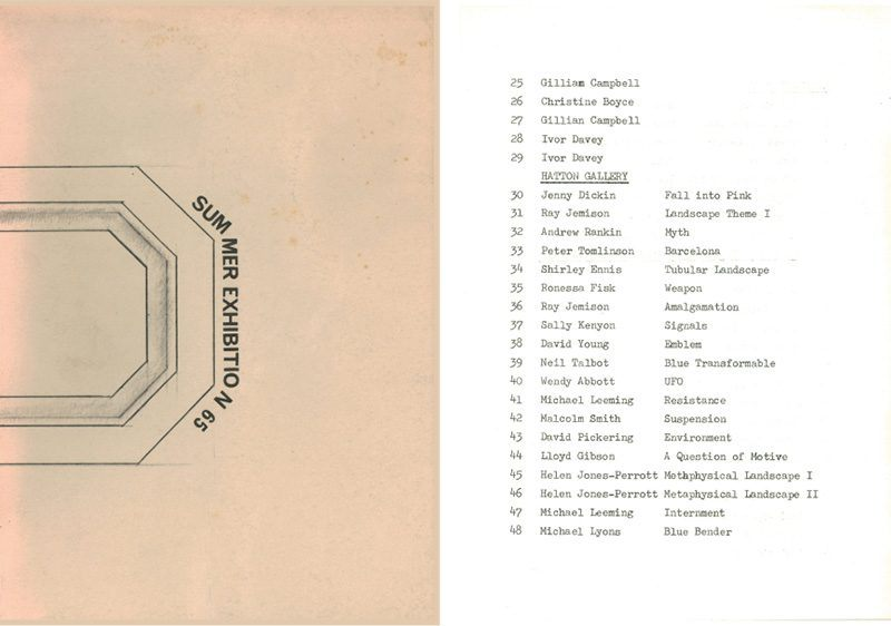 1965 student Summer Exhibition cover catalogue