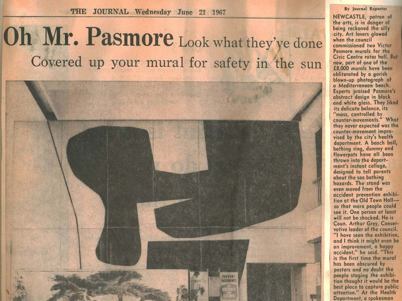 Pasmore's local press attention