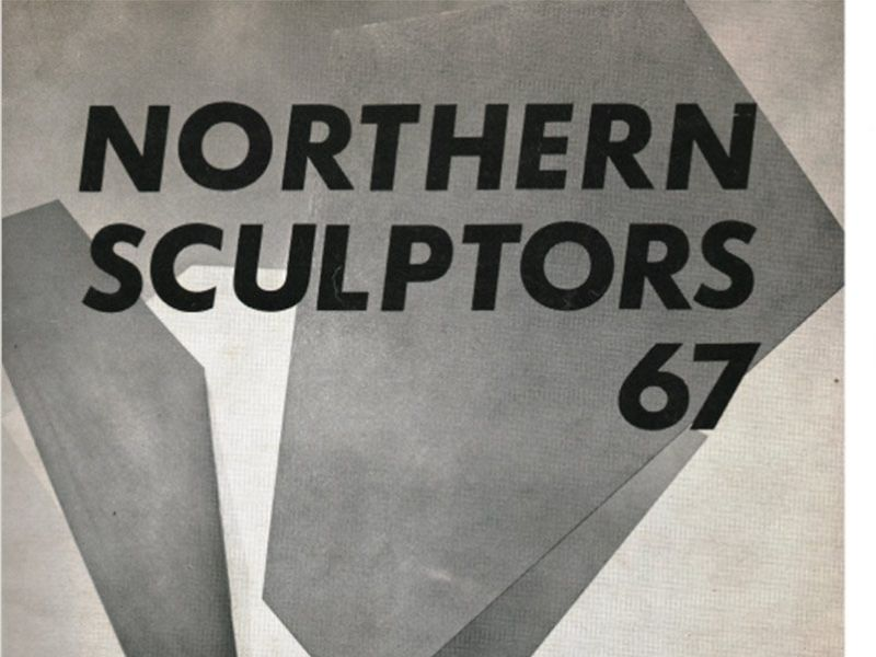 Catalogue cover and page, featuring Geoffrey Dudley for the 'Northern Sculptors 67'