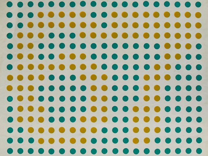 The 'Op Art' derived poster for the 1967 student Summer Exhibition