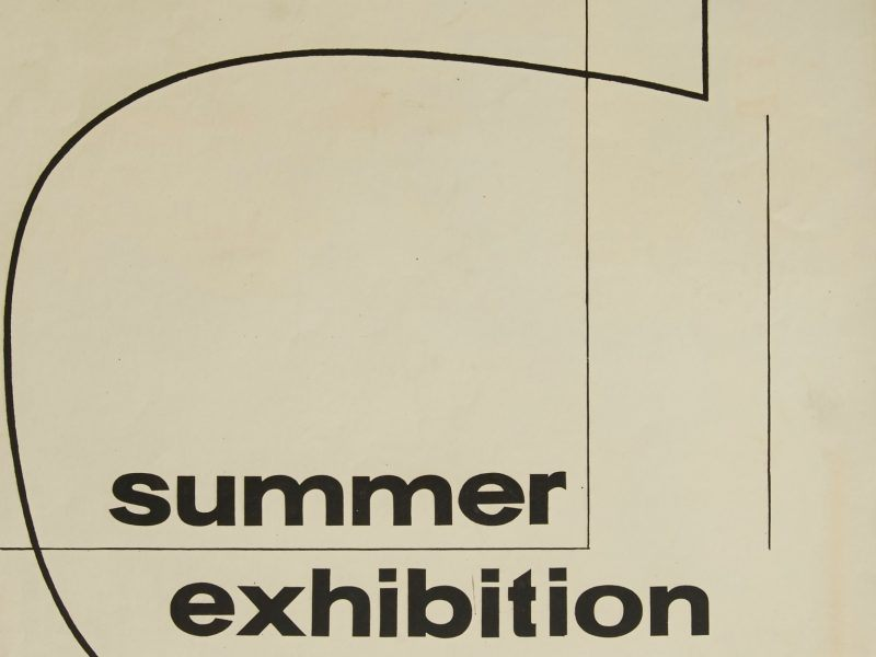 1960 student Summer Exhibition Poster